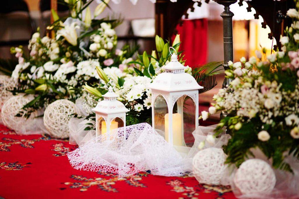 dekoracje ślubne podczas uroczystości w krynicy